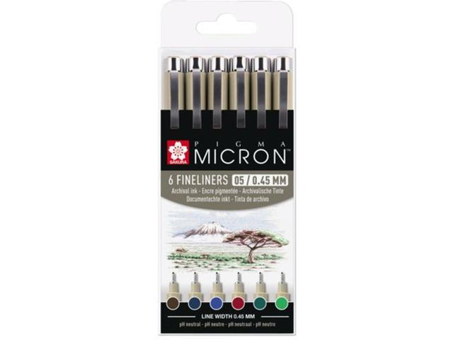 Sakura - Pigma Micron - 6pcs 0,45mm Earth tones