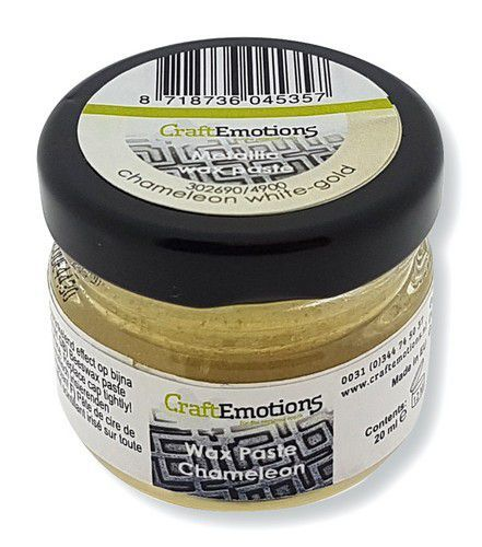 CraftEmotions - Wax Paste Chameleon - Witgoud