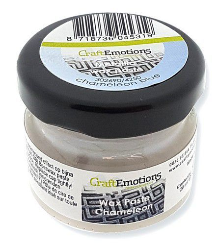 CraftEmotions - Wax Paste Chameleon - Blauw