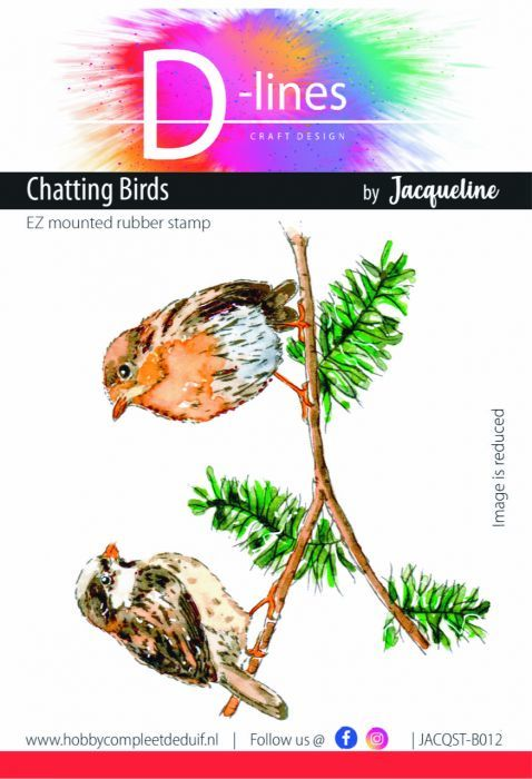 D-Lines - EZ mounted rubber stamps - Chatting Birds