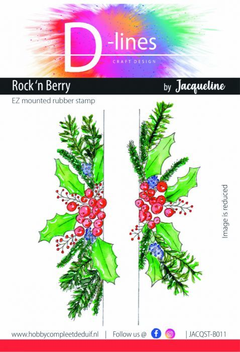D-Lines - EZ mounted rubber stamps - Rock n Berry