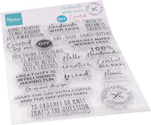 Marianne Design - Clearstamp - Crafting sentiments