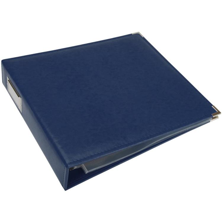 "We R Memory Keepers - Classic Leather D-Ring Album - 12"" x 12"" - Cobalt"