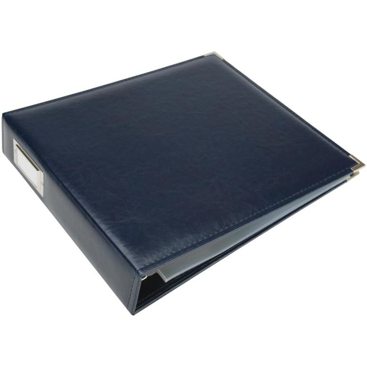 "We R Memory Keepers - Classic Leather D-Ring Album - 12"" x 12"" - Navy"