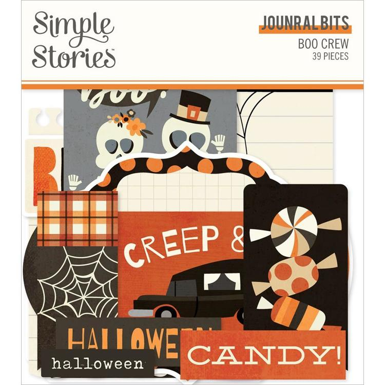 Simply Story - Boo Crew Bits & Pieces Die-Cuts - Journal Bits