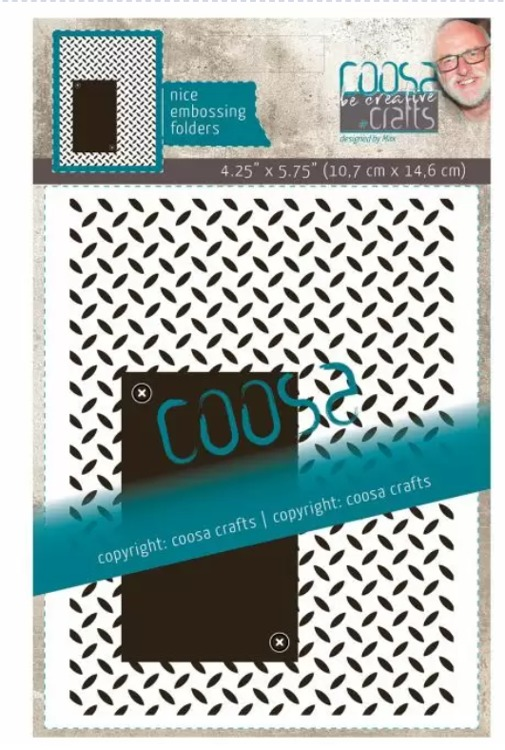 Coosa Crafts- Embossing Folder - Iron Plate