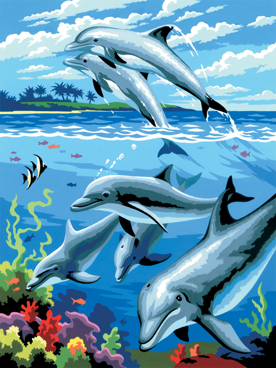 Royal & Langnickel - Painting by numbers - Dolphins