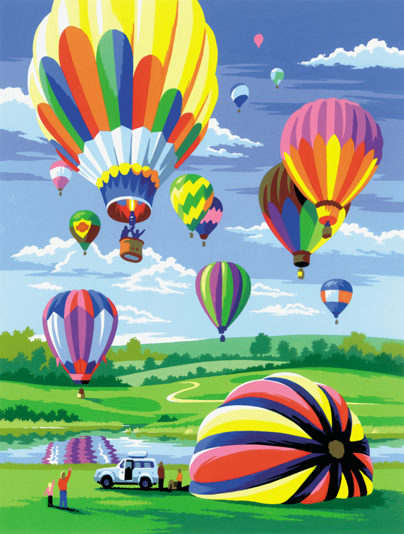 Royal & Langnickel - Painting by numbers - Hot Air Balloons