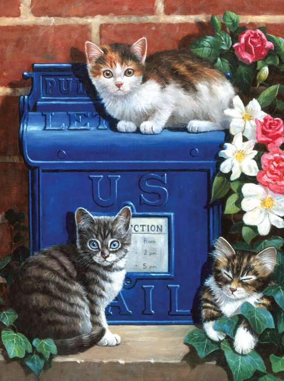 Royal & Langnickel - Painting by numbers - Mailbox Kittens