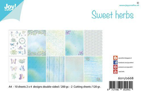 Joy! Crafts - Paperpad A4 - Sweet Herbs