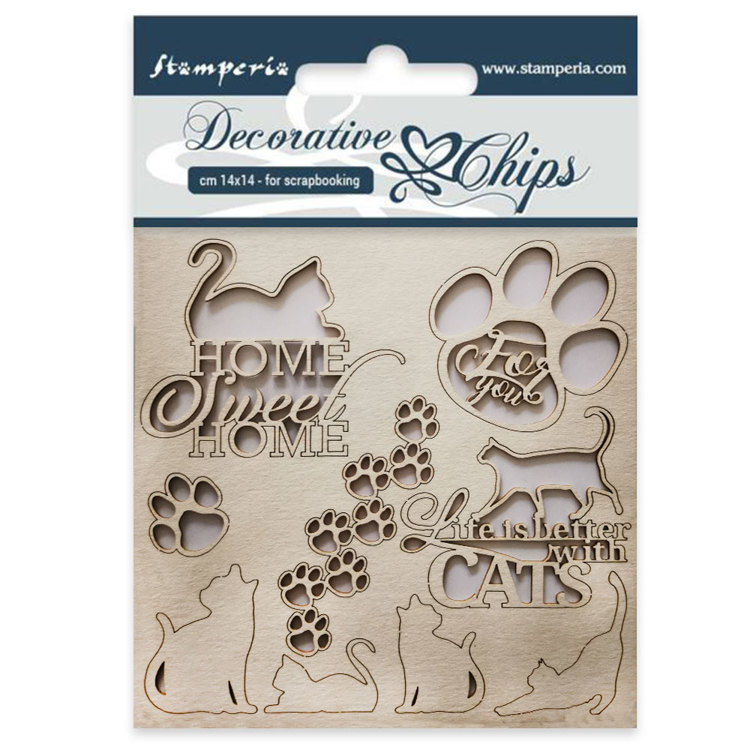 Stamperia - Decorative Chips - Cats