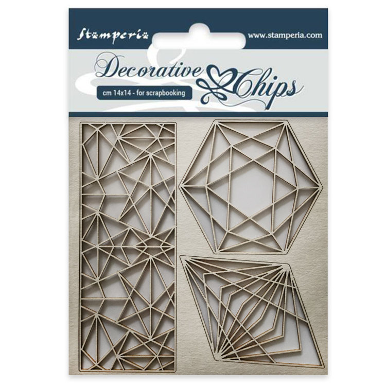Stamperia - Decorative Chips - Geometry