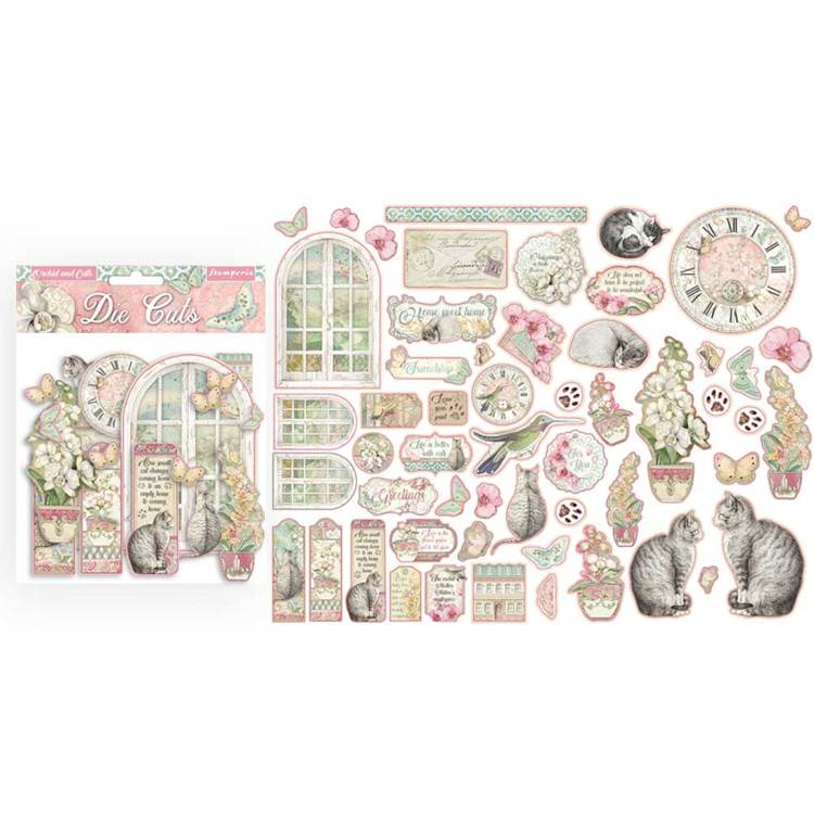 Stamperia - Die Cuts - Orchid and Cats