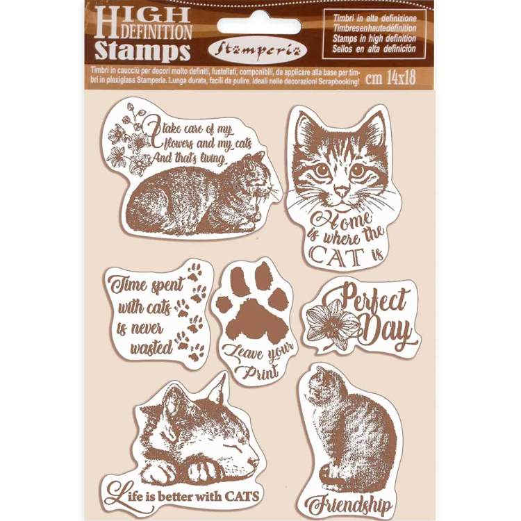 Rubber Stamp - Stamperia - Cats
