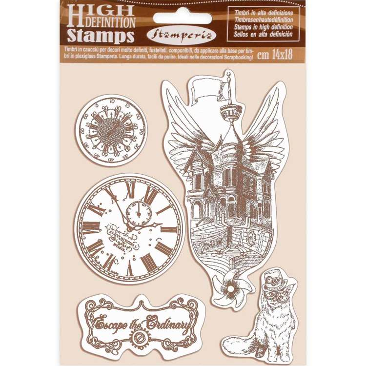 Rubber Stamp - Stamperia - Lady Vagabond flying ship