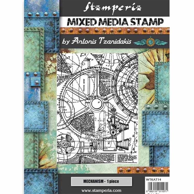 Mixed Media Stamp - Stamperia - Mechanism