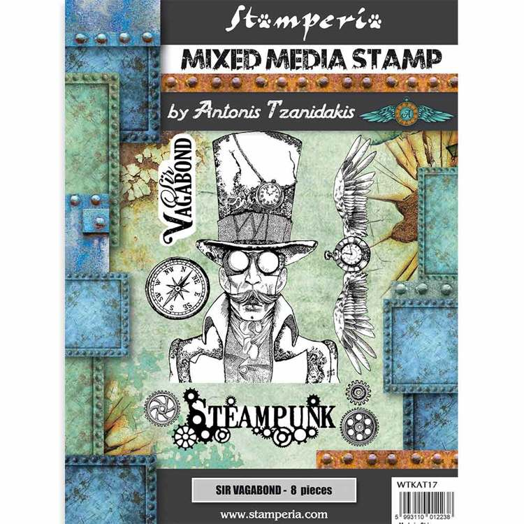 Mixed Media Stamp - Stamperia - Steampunk