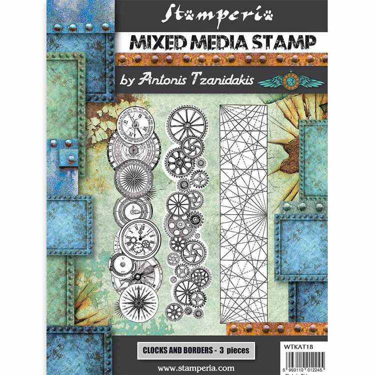 Mixed Media Stamp - Stamperia - Steampunk Borders