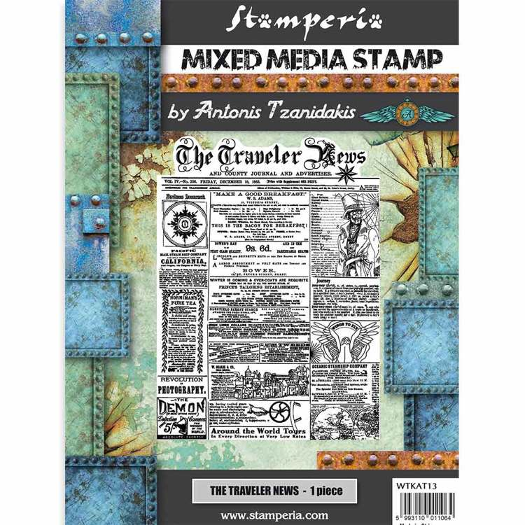 Mixed Media Stamp - Stamperia - The traveler news