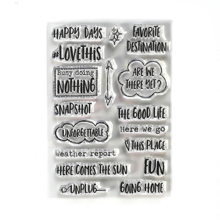 Elizabeth Craft Design - Clearstamp - Destination Phrases