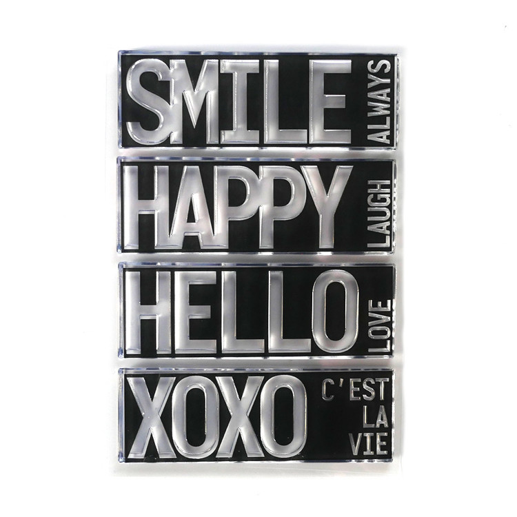 Elizabeth Craft Design - Clearstamp - Block Words - Hello