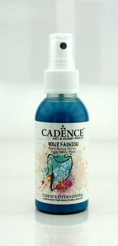 Cadence - Your fashion spray textiel verf - Donker turkoois