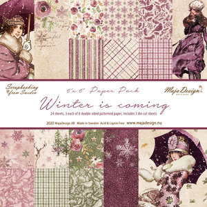 Scrappapier Maja Design - Winter is Coming -  Paperpad 15,2 x 15,2