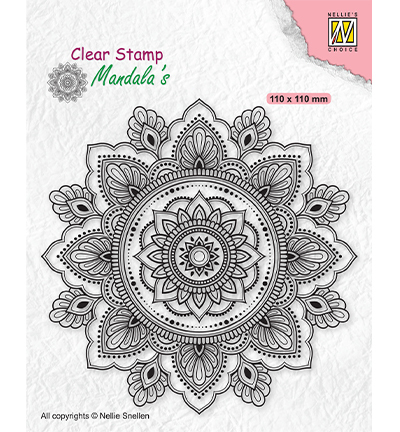 Clearstamp Nellie Snellen - Mandala - Sunflower