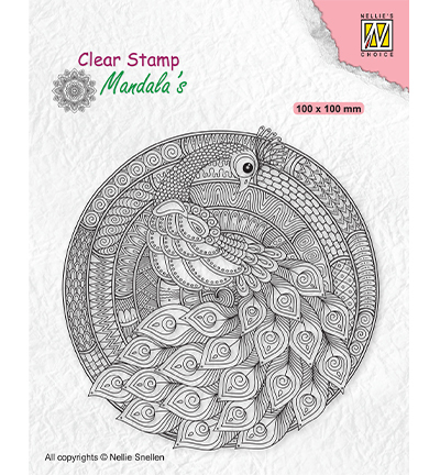 Clearstamp Nellie Snellen - Mandala - Peacock