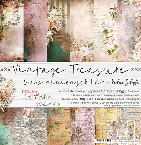 Craft O' Clock - Vintage Treasure - Paperpad 30,5 x 30,5 cm