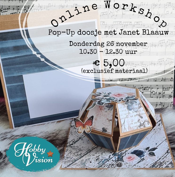ONLINE Workshop - Pop-Up bal in doosje - Donderdag 26 november (Janet Blaauw)