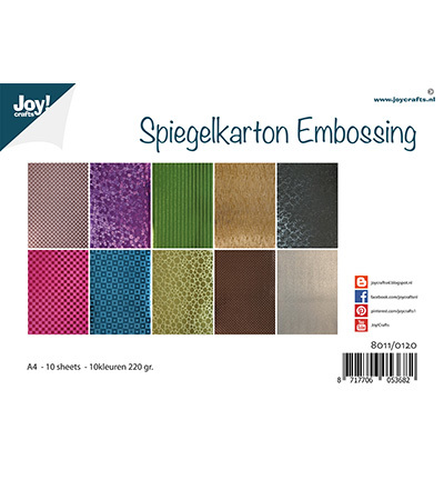 Joy! Crafts - Spiegelkarton Embossing - 10 kleuren
