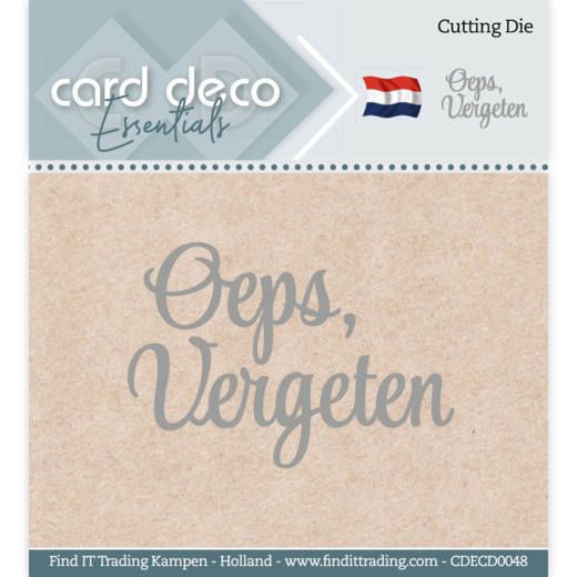 Card Deco Essentials - Cutting Dies - Oeps, vergeten