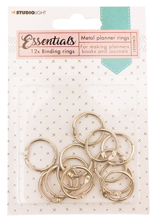 Studio Light - Planner Collection - Binding Rings Silver RINGSSL03
