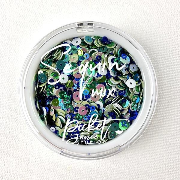 Picket Fence - Schudmateriaal Sequin Mix - Ocean Breeze