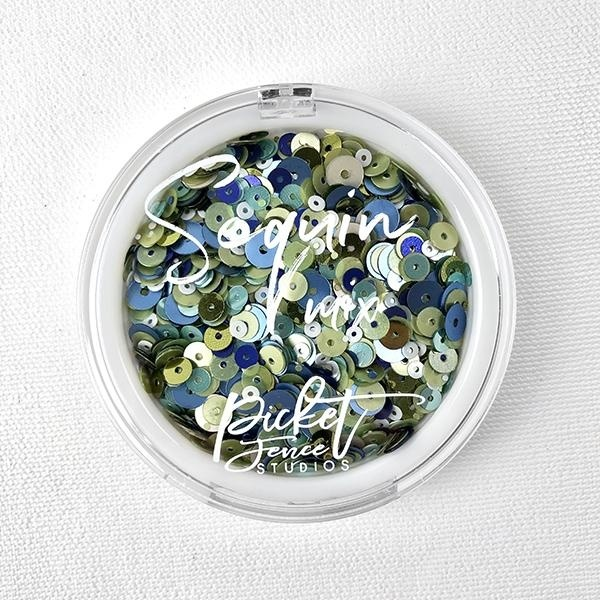 Picket Fence - Schudmateriaal Sequin Mix - Blueberry Mojito