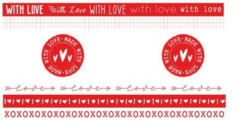 Studio Light - Filled With Love - Washi Tape Red/White nr. 19