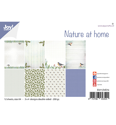 Joy! Crafts - Paperpad A4 - Nature at home