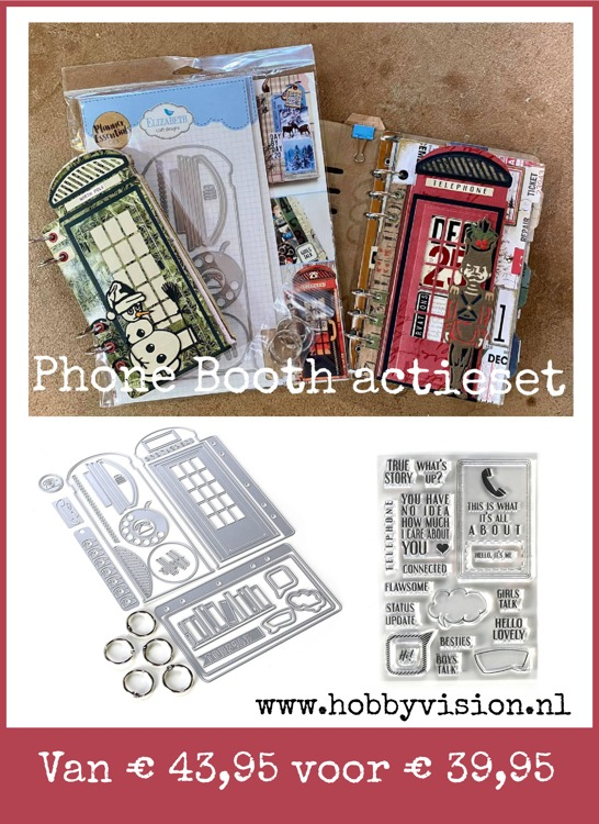 Elizabeth Craft Design - LIMITED EDITION - Phone Booth Kit + Stamps