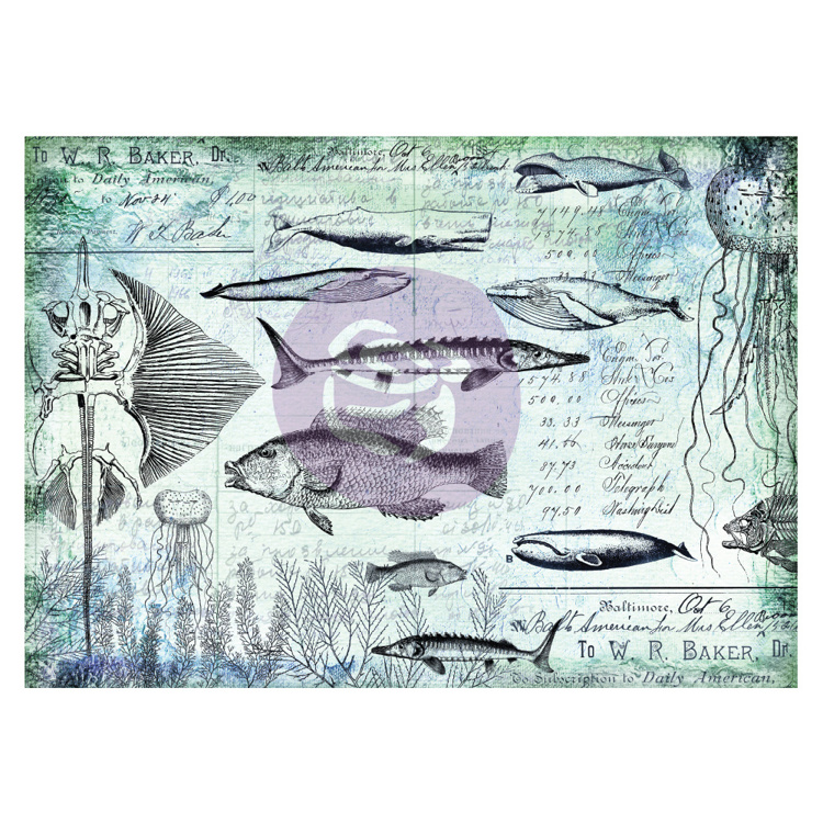 Finnabair - Tissue Paper - Nautical  (6 vel)