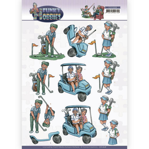 3D cutting sheet - Yvonne Creations - Funky Hobbies - Golf