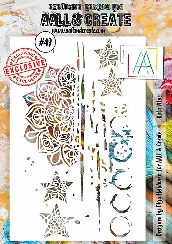 AALL & CREATE - Stencil - set number 49