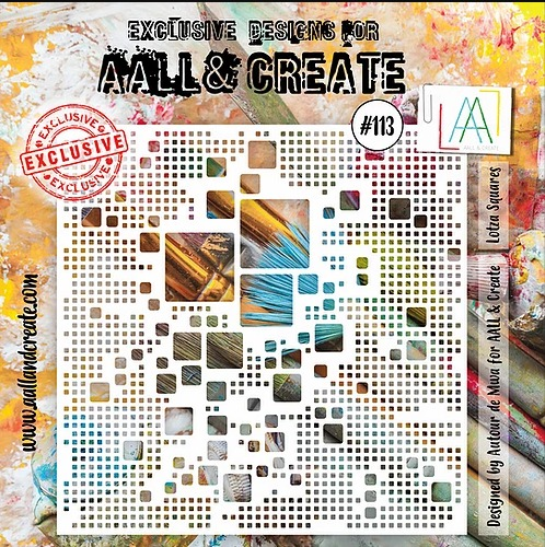 AALL & CREATE - Stencil - set number 113
