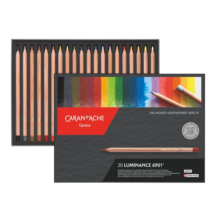 Kleurpotlood Caran d`Ache - Luminance 6901 - Set á 20 stuks - Portrait Assortment