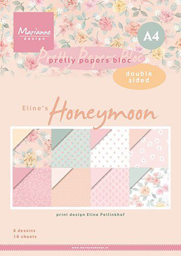 Marianne Design - Paperpad A4 - Honeymoon