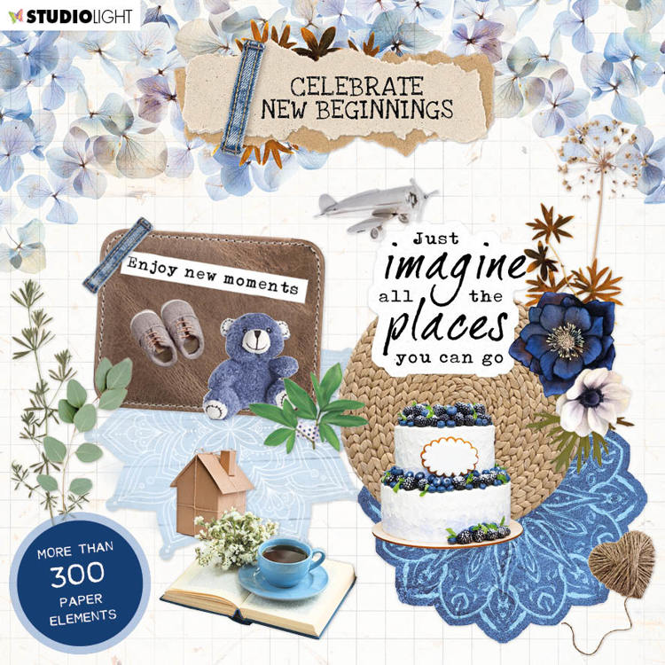 Studio Light - Celebrate New Beginnings - Die-cut Block - EASYCNB666
