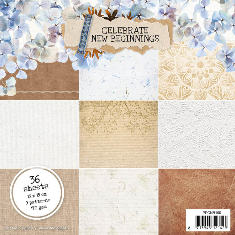 Studio Light - Celebrate New Beginnings - Paperpad 15 x 15 - PPCNB160