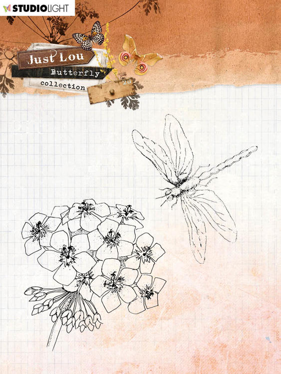 Studio Light - Just Lou Butterfly - Clearstamps STAMPJL15
