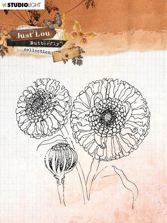 Studio Light - Just Lou Butterfly - Clearstamps STAMPJL16
