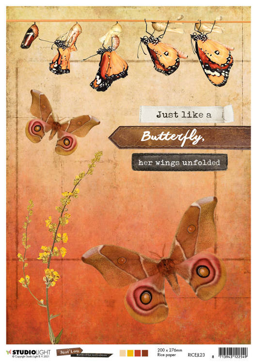Studio Light - Just Lou Butterfly - Ricepaper RICEJL23